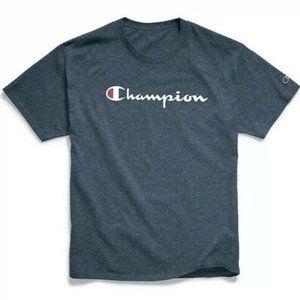 Champion Men's Classic Script Shirt Heather Blue